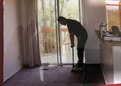 Water removal from carpet