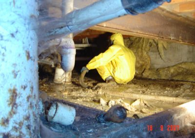 Crawl Space Sewage Backup
