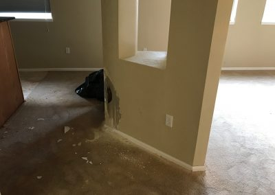 Burst Pipe Water Damaged Carpet