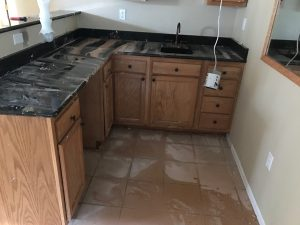 Water Damaged Kitchen Cabinets